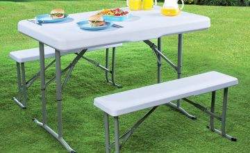Folding Picnic Table and Benches