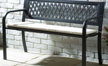 Steel Bench with Cushion