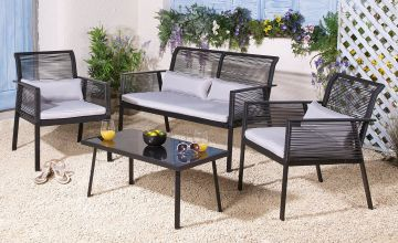 Carmen 4-Piece Rope Effect Lounge Set