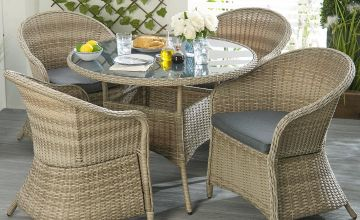 Conservatory Wicker 5-Piece Dining Set