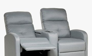 Recliner Love Seat Grey Fabric