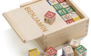 Personalised Wooden Blocks in a Box