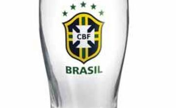 Personalised Football Brazil Crest Glass