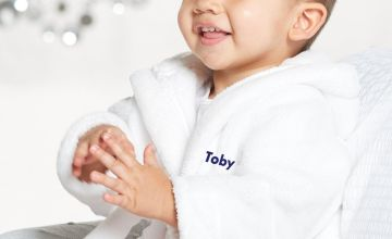 Embroidered Personalised Baby Unisex Robe