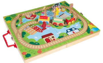 Personalised My First Wooden Train Set with Case