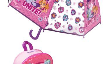 Personalised Backpack and Brolly Set - Paw Patrol Girls