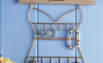 Personalised Metal Jewellery Hanger
