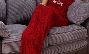 Personalised Red Mermaid Tail Blanket