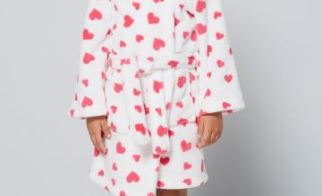 Embroidered Personalised Heart Supersoft Robe