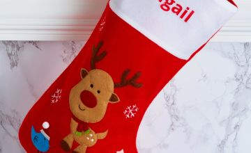 Personalised Rudolph Christmas Stocking