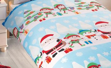 Personalised Fun in the Snow Single Duvet Set