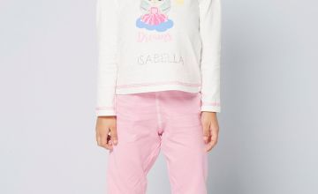 Girls Personalised Long Sleeve Rainbow Dreams Fairy Pyjamas