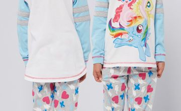 Girls Personalised My Little Pony Varsity Style Pyjamas