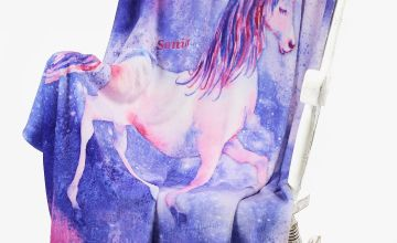 Personalised Unicorn Throw