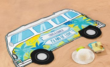 Personalised Lightweight Campervan Beach Towel
