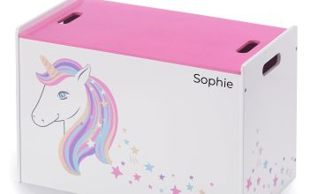 Personalised Unicorn Toy Box