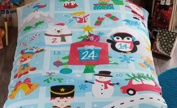 Personalised Countdown To Christmas Duvet Set