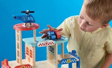 Personalised Police Fire Station and Hospital Play Set