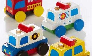 Personalised Wooden Vehicle Set