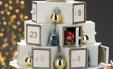 Personalised Christmas Tree Wooden Advent Calendar