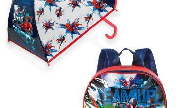 Personalised Spiderman Backpack and Umbrella Set