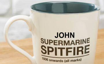 Personalised Supermarine Spitfire Mug