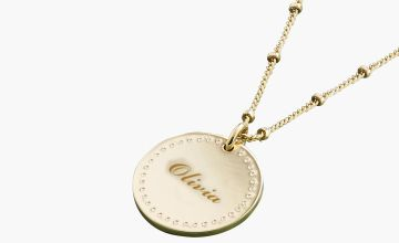 Personalised Disc Pendant