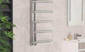 Designer Bathroom Heated Heater Towel Rail Rad Radiator Ladder 988 x 500 Chrome