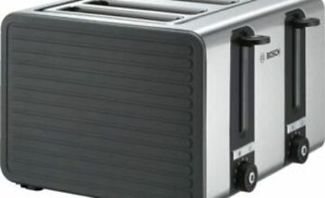 BOSCH Silicone TAT7S45GB 4-Slice Toaster - Black and Grey - Currys