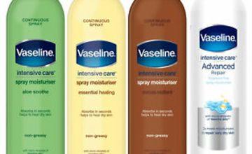Vaseline Intensive Care Non-Greasy Spray Moisturiser, 3 Pack, 190ml