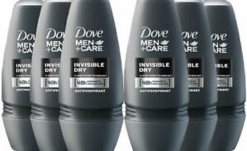 Dove Men+Care 48H Protection Anti-Perspirant Roll-On, Invisible Dry, 6Pk, 50ml