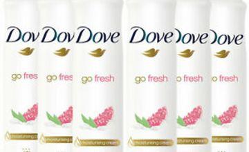 Dove Women Anti-Perspirant Deodorant Spray, Pomegranate & Lemon, 6 Pack, 250ml