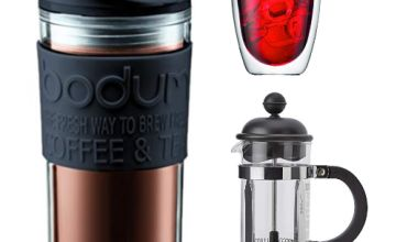 Save on Bodum french press coffee makers, PAVINA glasses and more