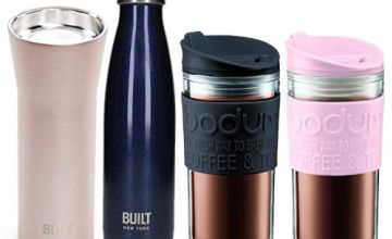 Save on travel mugs and flasks by Bodum and KitchenCraft