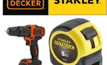 25% Off Stanley Black + Decker Tools