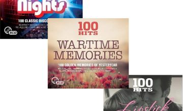 100 hits compilations for £2.99