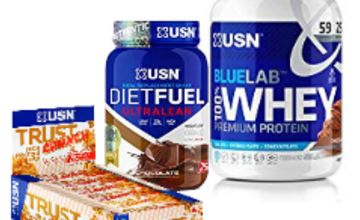 Up to 63% on USN Diet Fuel, Blue Lab Whey and more