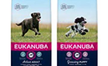 Up to 34% off Eukanuba dog food