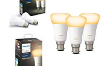 38% off Philips Hue White Ambiance 3 Pack Lamps