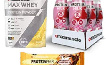 Up to 20% off Maximuscle Protein Bars, Max Whey and more
