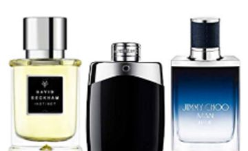 Up to 50% off Fragrances for Men from Mont Blanc, David Beckham, Jimmy Choo and more