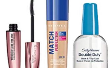 Up to 50% off make-up lines from Rimmel, Max Factor and Sally Hansen