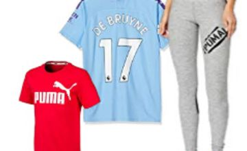Save on selected Puma Sportswear including Official Manchester City lines