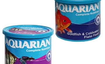 Save on AQUARIAN Complete Nutrition, Aquarium Goldfish Food, Flakes Also Suitable for Small Pond Fish, 200 g Container and more