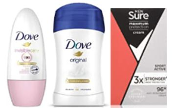 Up to 30% off Deodorant Multipacks by Dove, Sure and Vaseline