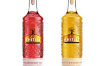 Over 25% off J.J. Whitley Mango & Papaya Gin and Strawberry Gin, 70 cl