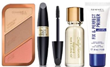 Up to 45% off Cosmetics from Rimmel, Max Factor and Sally Hansen