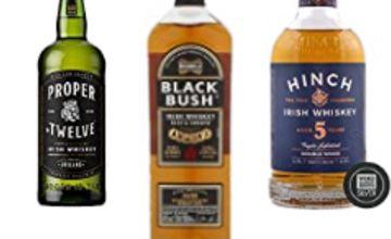 Up to 24% off Bushmills Black Bush Irish Whiskey, Proper No 12 and Hinch