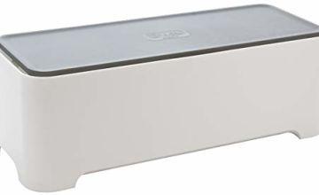 Allibert 220046E-Box Rectangular Polypropylene Cable Storage Box White/Grey 36.79x 14.7x 12.6cm