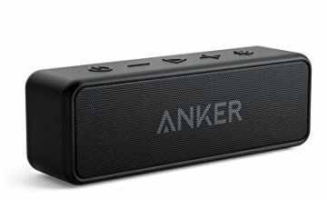 Anker SoundCore 2 Bluetooth Speaker with Better Bass, 24-Hour Playtime, 66ft Bluetooth Range, IPX7 Water Resistance & Built-in Mic - Dual-Driver Wireless Speaker for iPhone, Samsung etc